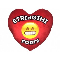 Cuscino peluche Cuore EMOTICON STINGIMI FORTE