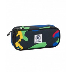 ASTUCCIO Invicta LIP FANTASY Roots Blue PORTAPENNE scomparto interno attrezzato PENCIL BAG porta penne