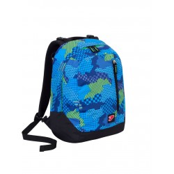SEVEN - ZAINO THE DOUBLE PROJECT COLOR CAMOUFLAGE REVERSIBILE BLUE PRINT - SCUOLA 2017-2018