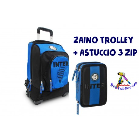 Zaino Trolley INTER + Astuccio 3 zip School Pack