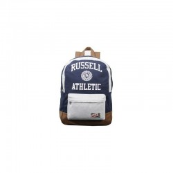 ZAINO RUSSELL ATHLETIC BLU/GRIGIO IN TESSUTO FONDO IN SIMILPELLE ,BACKPACK