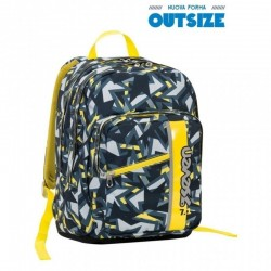 ZAINO OUTSIZE TAG BOY SEVEN nero giallo